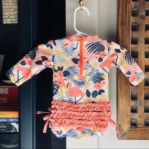 RUFFLE BUTTS Flamingo Swim Suit 0-3 mo